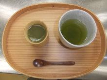 とらや工房の店員ブログ-水ようかん(抹茶)